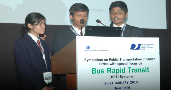 Children at the Youth Parliament held during the BRT Symposium